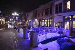 Boulder le Colorado la nuit photographie stock