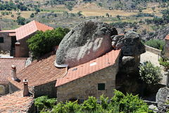 Boulder in Monsanto - the most Portuguese village Royalty Free Stock Photo