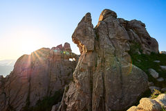 The boulder moorstone sunset Stock Photos