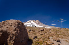 Boulder and Mount Hood Stock Photography