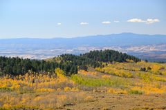 Boulder Mountain in the fall Stock Image