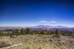 From Boulder Mountain to Capital Reef HDR. A view from Boulder Mountain just off of Highway 12 looking south over Capital Reef and the Henry Mountains and Lower Royalty Free Stock Photos