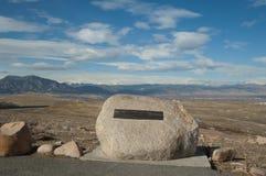 Boulder overlooking Boulder Colorado Stock Images