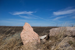 A boulder pointing to the sky Stock Photos