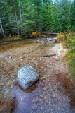 Boulder in river. Royalty Free Stock Images