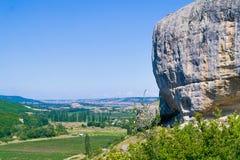 Boulder sopra la valle Immagine Stock Libera da Diritti