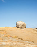 Boulder. On top of a rocky hill Royalty Free Stock Images