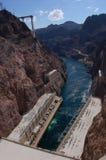 Boulder-Verdammung im Colorado, auf der Grenze zwischen den US-Staaten von Arizona und Nevada Lizenzfreies Stockfoto