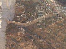 Boulder-Verdammung im Colorado, auf der Grenze zwischen den US-Staaten von Arizona und Nevada lizenzfreies stockbild