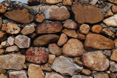 Boulder wall in a temple Royalty Free Stock Photography