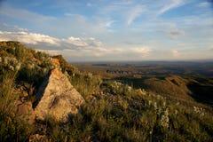 Boulder on Western Hillside Stock Images