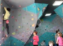 Bouldering festival Dnepr Montana Kids Stock Images