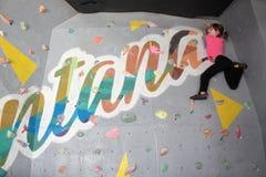 Bouldering festival Dnepr Montana Kids Stock Image
