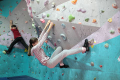 Bouldering festival Dnepr Montana Kids Stock Photo