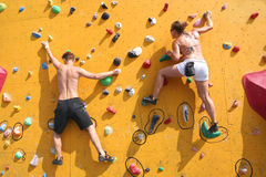 Bouldering Wall Royalty Free Stock Images