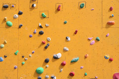 Bouldering Wall. Close up of a bouldering wall for climbing Royalty Free Stock Photo