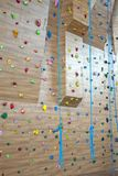 Bouldering wall for climbing. Bouldering wall for climbing in the gym Royalty Free Stock Photo