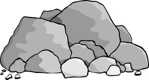 Boulders. A pile of boulders and rocks Stock Image