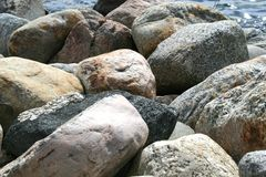 Boulders. A pile of colourful boulders Stock Photo