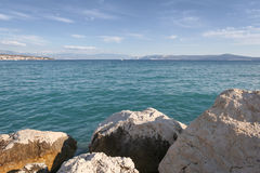 Boulders and Adriatic Sea Royalty Free Stock Image