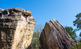 Boulders against blue sky over tranquil nature, summer in the da Stock Photography