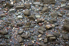 Boulders along the River Thames Royalty Free Stock Images