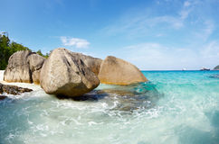 Boulders And Ocean Royalty Free Stock Photography