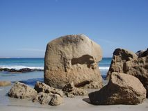 Boulders on Beach. Cape Town, South Africa Royalty Free Stock Images