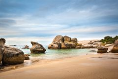 Boulders Beach. At twilight.  is made up of inlets between granite boulders. Cape Peninsula, South Africa Stock Photo