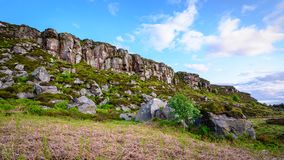 Boulders below Great Wanney Crag stock photography