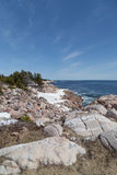 Boulders at Cabot Trail Royalty Free Stock Photo