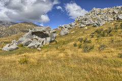 Boulders at Castle Hill Stock Images