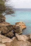 Boulders on Curacao Shore Royalty Free Stock Photo