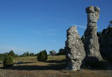 Boulders from Gotland. Boulders and blue sky from Gotland, Sweden Stock Photography