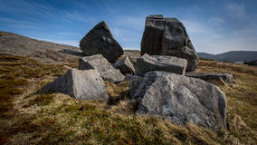 Boulders on a hill in Flatrock, Newfoundland and Labrador Royalty Free Stock Photos