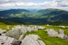 Boulders on the hillside Stock Image