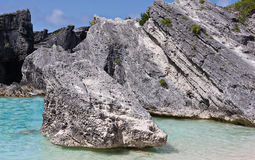 Boulders at Horseshoe Bay, Bermuda Stock Image