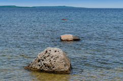 Boulders in a lake Royalty Free Stock Photography