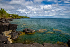 Boulders, lake superior, spring Stock Images