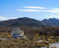 Boulders at Longstreet Spring, Ash Meadows, Nevada. Near death Valley royalty free stock photo