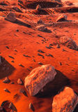 Boulders on Mars Stock Photo
