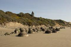 The Boulders at Moeraki beach, New Zealand Stock Images