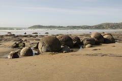 The Boulders at Moeraki beach, New Zealand Stock Image