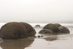 Boulders at moeraki in New Zealand Royalty Free Stock Photos