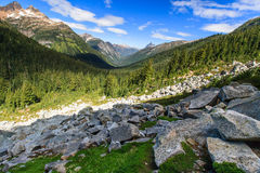 Boulders and Mountains Royalty Free Stock Photography