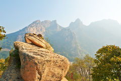 The boulders and mountains Royalty Free Stock Images