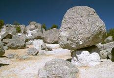 Boulders in Mushroom Valley Stock Photo