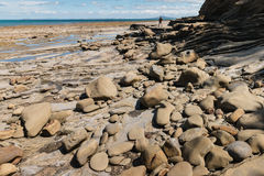 Boulders on New Zealand coast Royalty Free Stock Photos