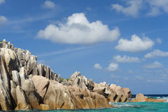 Boulders in ocean Royalty Free Stock Photography