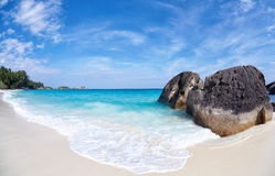 Boulders and ocean Royalty Free Stock Images